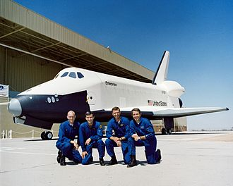 Space Shuttle - Shuttle approach and landing test crews, 1976
