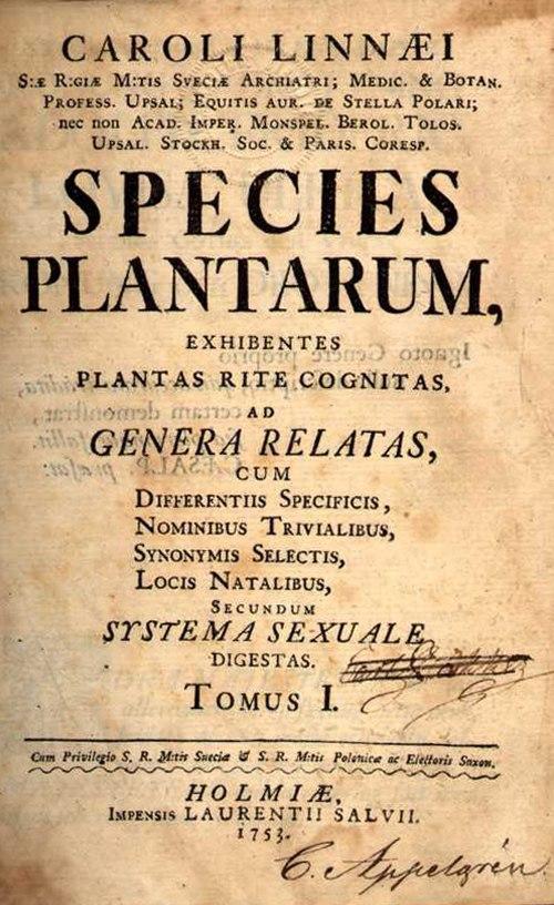 Species plantarum 001