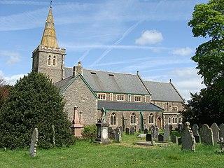 St Davids Church, Llanfaes church in Llanfaes, Powys, Wales