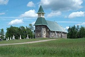 Jemseg, New Brunswick - St. James church in Lower Jemseg