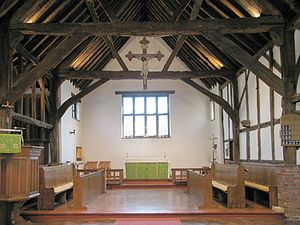 The Barn Church, Kew - The chancel at St Alban's, Cheam, whose building was inspired by the Barn Church at Kew
