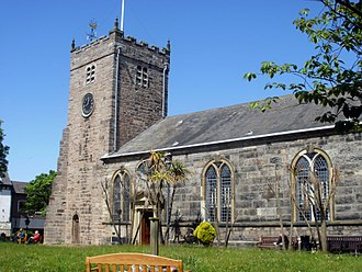 Listed buildings in Poulton-le-Fylde - Image: St Chad's Church, Poulton le Fylde from south