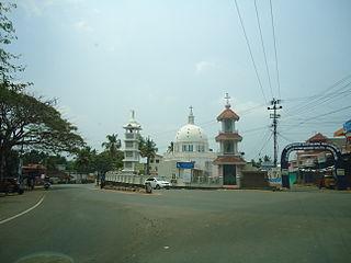 Thalayolaparambu Town in Kerala, India