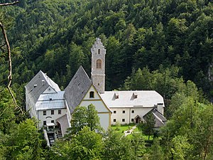 St. Georgenberg-Fiecht Abbey - St. Georgenberg from the north