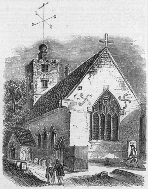 St Lawrence Church, Morden - St Lawrence church, 1851