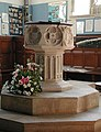 St Mary the Great, Sawbridgeworth, Herts - Font - geograph.org.uk - 358895.jpg