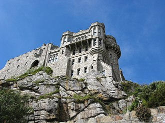 St Michael's Mount - South east side of the castle, facing offshore