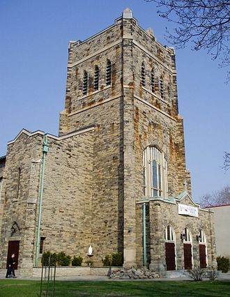 Bathurst Street (Toronto) - Located across from Bathurst subway station, St. Peter's Catholic Church is a landmark on Bathurst Street.