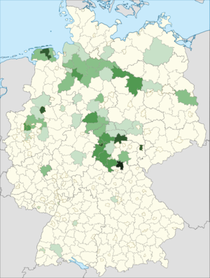 Serbs in Germany - Distribution of Serbian nationals in Germany.