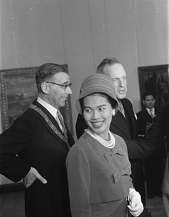 Sirikit - Queen Sirikit in the Netherlands