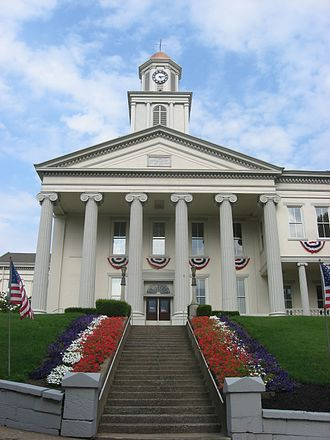 National Register of Historic Places listings in Lawrence County, Pennsylvania - Image: Stairs at the Lawrence County Courthouse