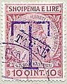 Stamp of Albania - 1914 - Colnect 376674 - Overprinted T and Takse in violet.jpeg