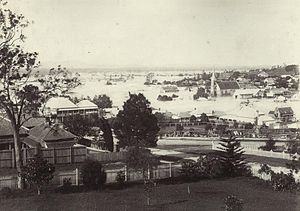 City of Ipswich - Ipswich in flood, 1893