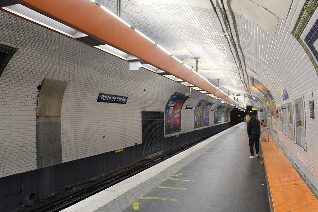 File Station Metro Porte Clichy Paris 3 Jpg Wikimedia Commons