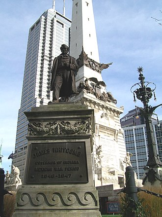 James Whitcomb - Statue of James Whitcomb at the Soldiers' and Sailors' Monument