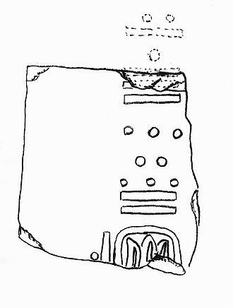 Chiapa de Corzo (Mesoamerican site) - Stela 2, showing the date of 7.16.3.2.13, or December 36 BCE, the earliest Mesoamerican Long Count calendar date yet found.