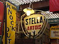 Stella Artois enamel advertising sign, pic1.JPG