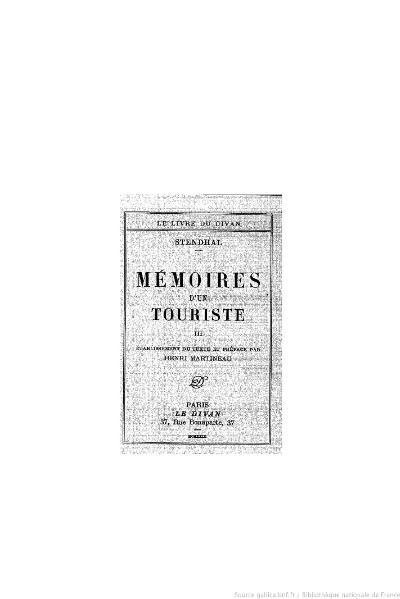File:Stendhal - Mémoires d'un touriste, III, 1929, éd. Martineau.djvu