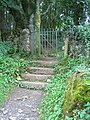 Steps and kissing gate at Din Lligwy - geograph.org.uk - 955014.jpg