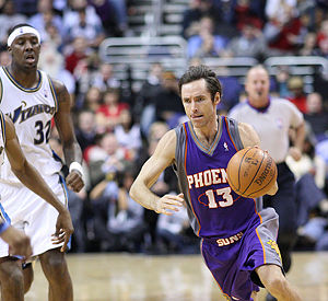 Steve Nash of the Phoenix Suns of the National...