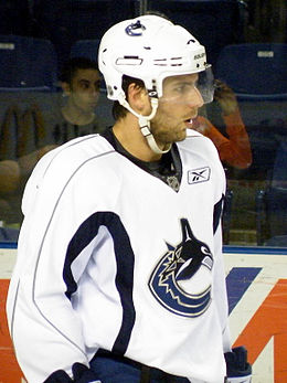 Description de l'image Steve Bernier 2009 training camp 2.jpg.