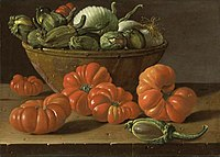 Still Life with Tomatoes a Bowl of Aubergines and Onions.jpg