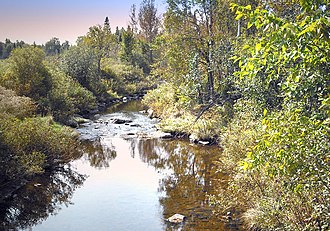 Stoke, Quebec - Image: Stoke river from 11 th country road (to the memory of Roland Hains) panoramio