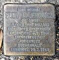Stolperstein Bartningallee 23 (Hansa) Kurt Majerowicz.jpg