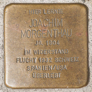 Stolperstein Joachim Morgenthau by 2eight 3SC1356.jpg