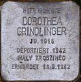 Stolperstein Salzburg, Dorothea Grindlinger (Judengasse 17).jpg
