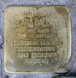 Photo of Clara Galland brass plaque