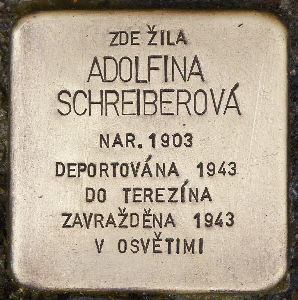 Stolperstein für Adolfina Schreiberová.jpg