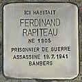 Stolperstein für Ferdinand Rapiteau (Coux).jpg