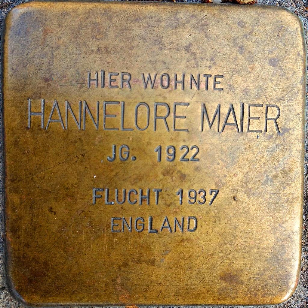 Stolperstein für Hannelore Maier in Reutlingen