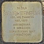 Stolperstein für Sarlota Steinerova (Prievidza).jpg
