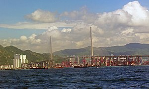 Stonecutters Bridge - Bridge from south, 2013
