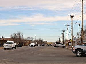 Strasburg, Colorado - Strasburg, looking east along 15th Avenue.