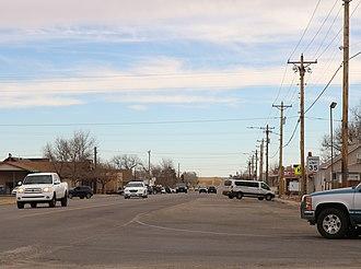 Strasburg, Colorado - Strasburg, looking east along 15th Avenue.
