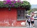 Street Scene with Bougainvillea - Antigua Guatemala - Sacatepequez - Guatemala (15916726975).jpg