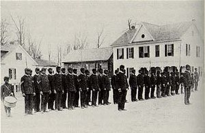 Students in military formation at Calhoun Colo...
