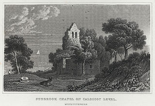 Sudbrook chapel on Caldicot Level, Monmouthshire