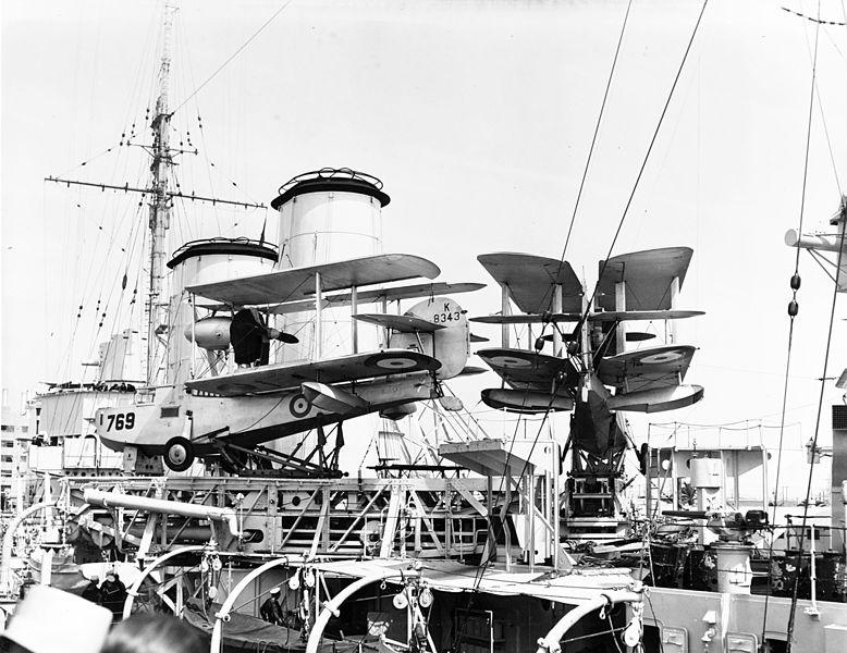 File:Supermarine Walrus abaord HMS Exeter (68) in the 1930s.jpg