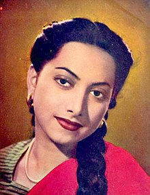 Suraiya in 1946 film Gajre.jpg