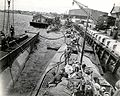 Surrendered German submarines at Portmouth Navy Yard 1945.jpg