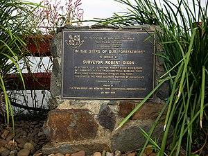 Harrisville, Queensland - Image: Surveyor Robert Dixon 1839 Normanby Plains Trigonometrical Baseline Cairn, Harrisville,Queensla nd