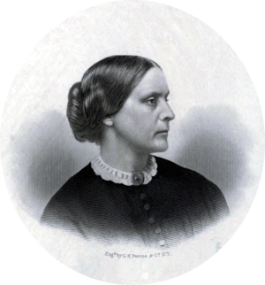 Susan B. Anthony - Portrait of Susan B. Anthony that was used in the History of Woman Suffrage