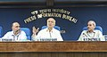 Sushil Kumar Shinde holding a press conference to present the Report Card of the Ministry of Home Affairs for the month of August, 2013, in New Delhi. The Union Home Secretary, Shri Anil Goswami and the ADG (M&C), PIB.jpg