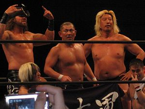 Minoru Suzuki - Suzuki with Suzuki-gun in February 2012