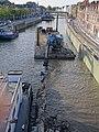 TOURNAI (Doornik) — Rognage du mur de soutenement de l'ancien quai Saint Brice après les travaux d'élargissement du lit de l'Escaut.jpg