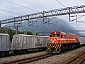 TRA R171 and Asia Cement railway wagons at Sincheng Taroko Station 20080917.jpg